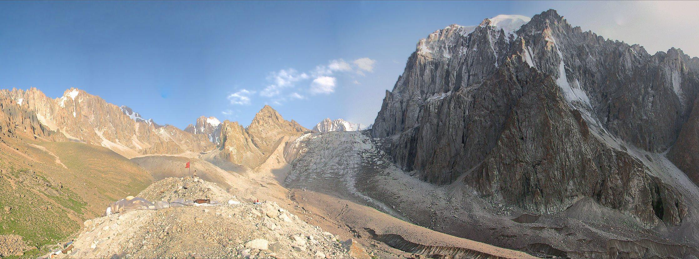 Панорама ледника Аксай