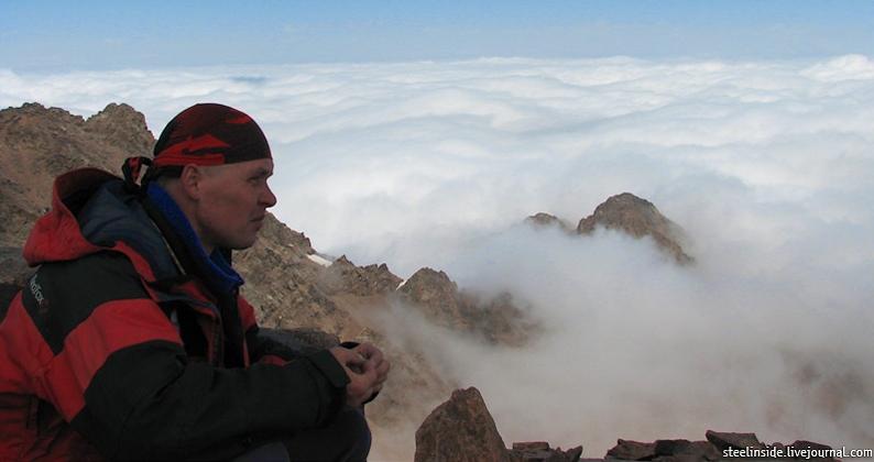Артём Скопин на вершине Пионера