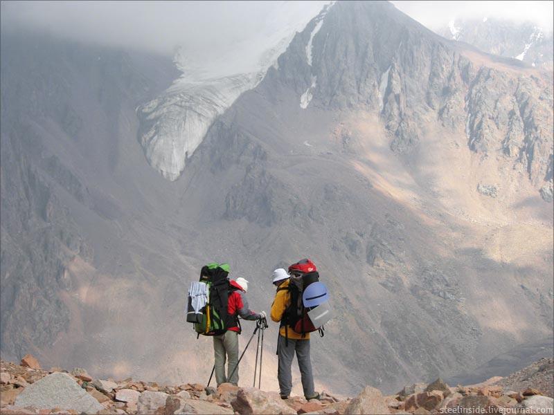 На спуске с перевала ТЭУ