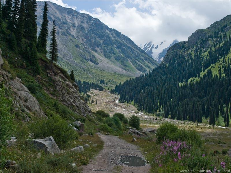 Дорога с Озёрного перевала