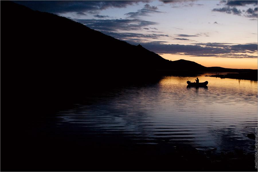 Озеро Большое чебачье на закате