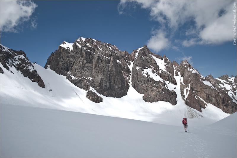 Денис Жендинский на леднике Богдановича