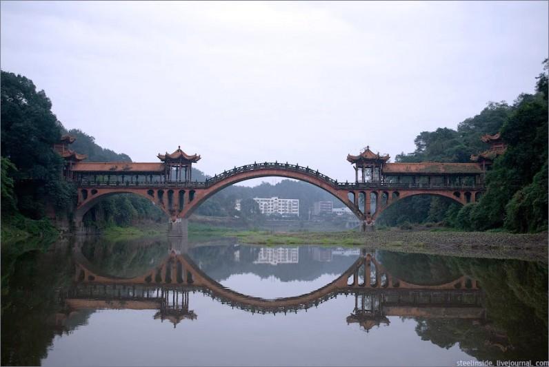 Мост к храму Вы Ву, Лешань