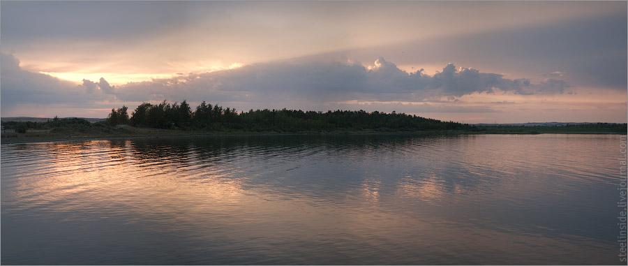 Панорама озера Большое чебачье