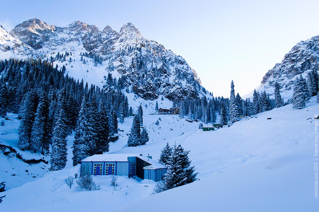 Альплагерь Туюк-Су зимой