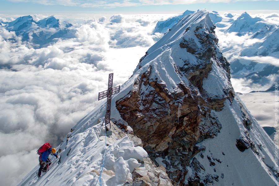 Вид с вершины Маттерхорна