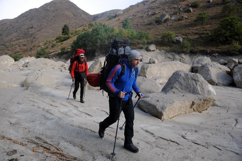 Русло реки Талгар после селя
