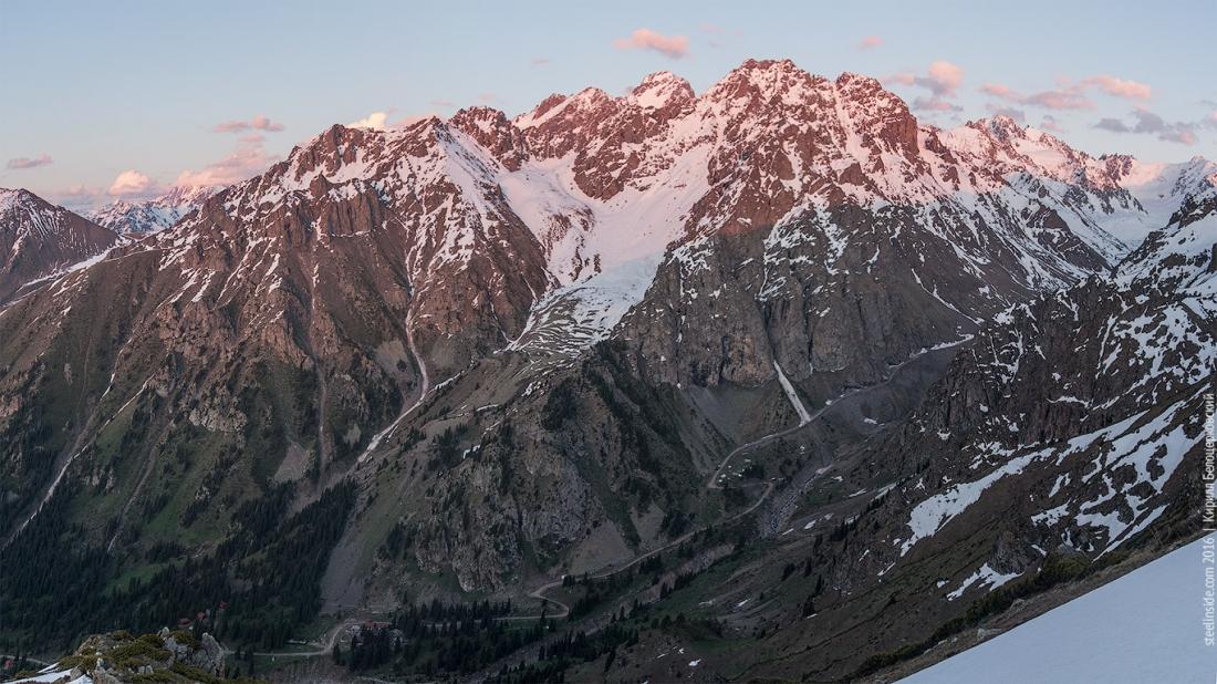 Панорама верховий Малого Алматинского ущелья