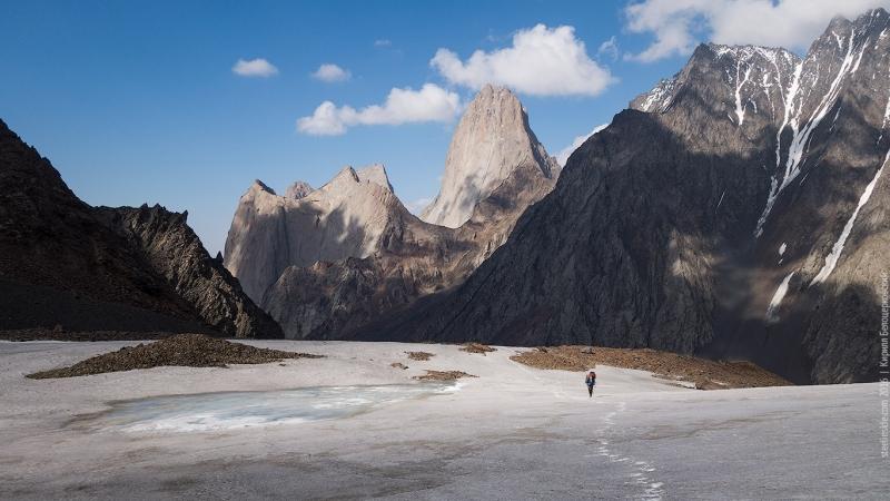Макс Тен в верховьях ледника Кара-Суу