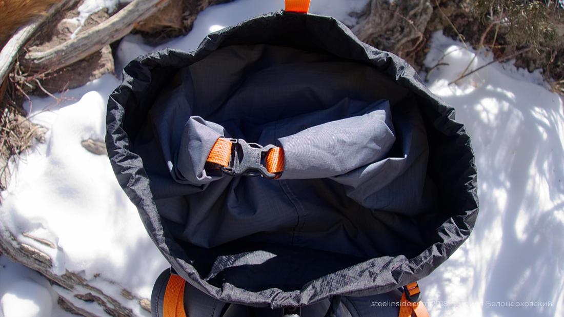 Удобная крышка рюкзака