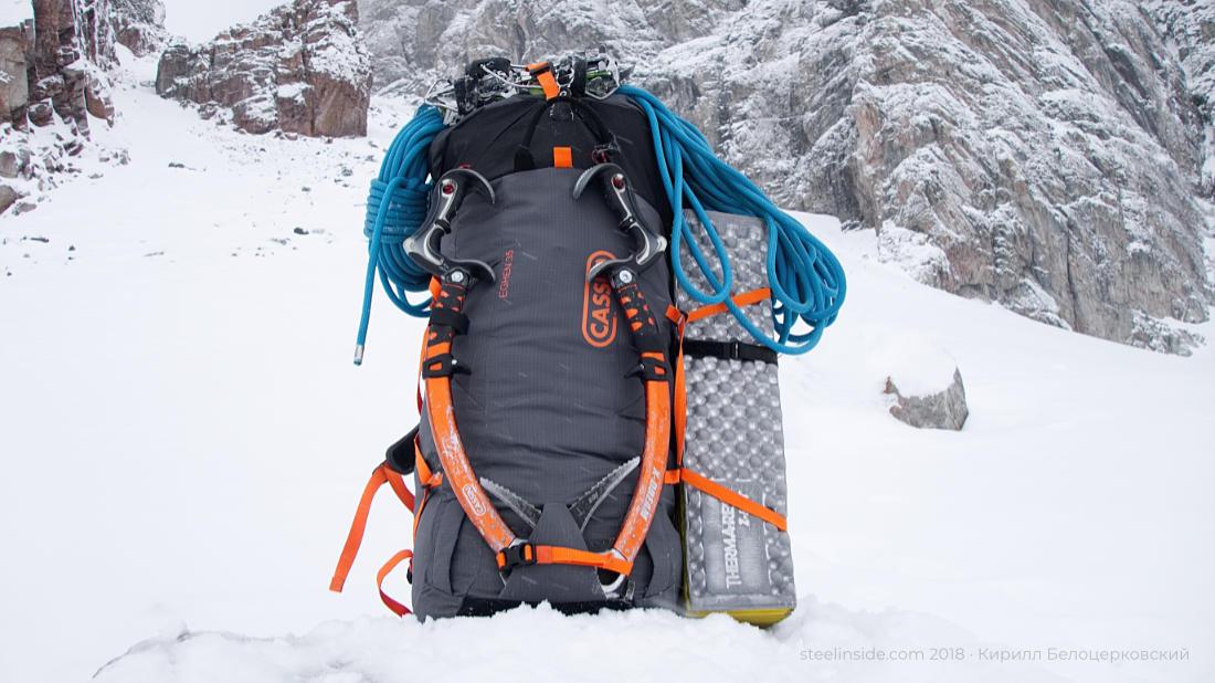 Рюкзак, снег, погода дрянь