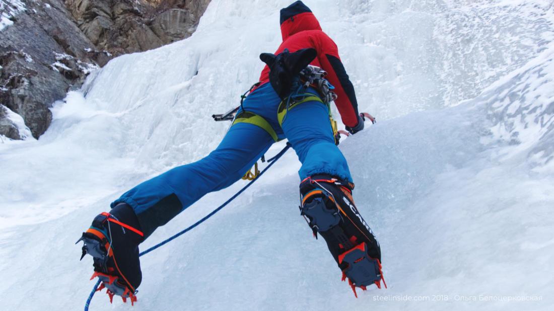 Кошки Cassin Alpinist хороши на крутом льду