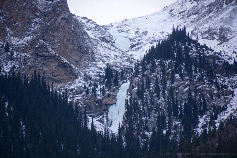 Водопад Барскаун в феврале и сумерках