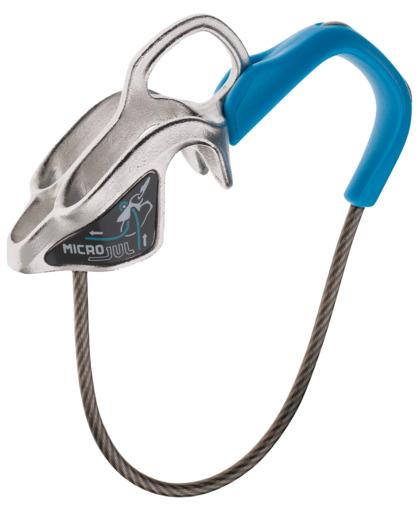 Страховочная железка Edelrid Micro Jul для очень тонких верёвок