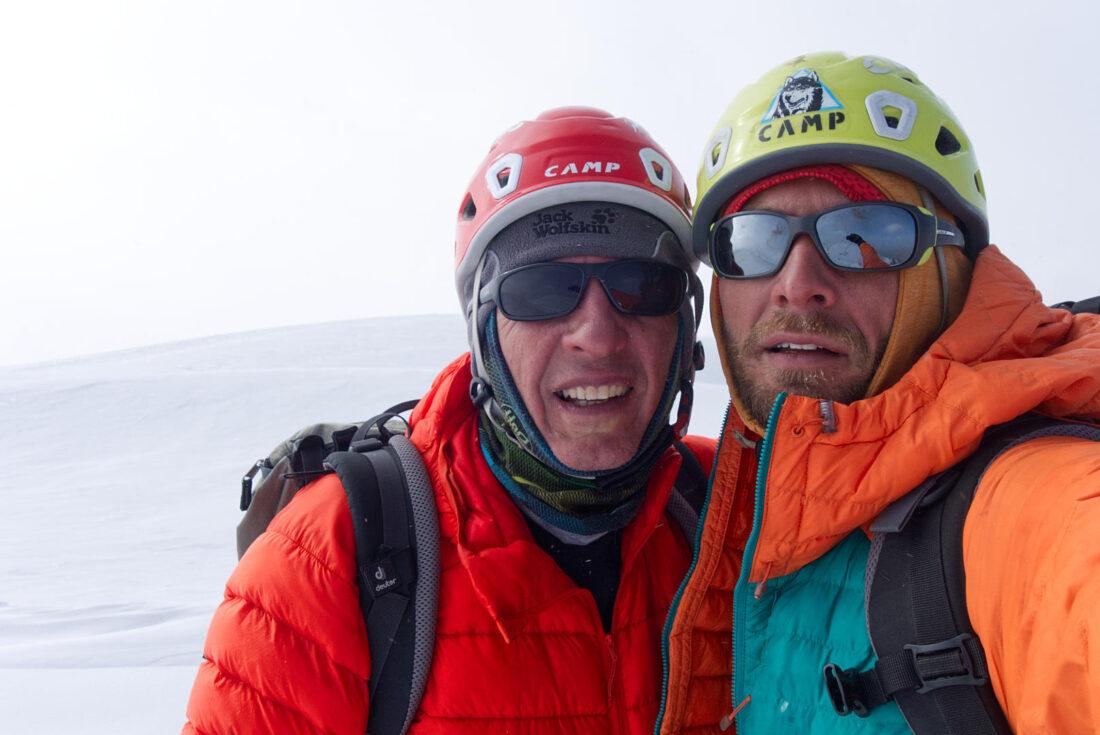 Олег Толстов и Кирилл Белоцерковский на вершине Талгара, 4973 м