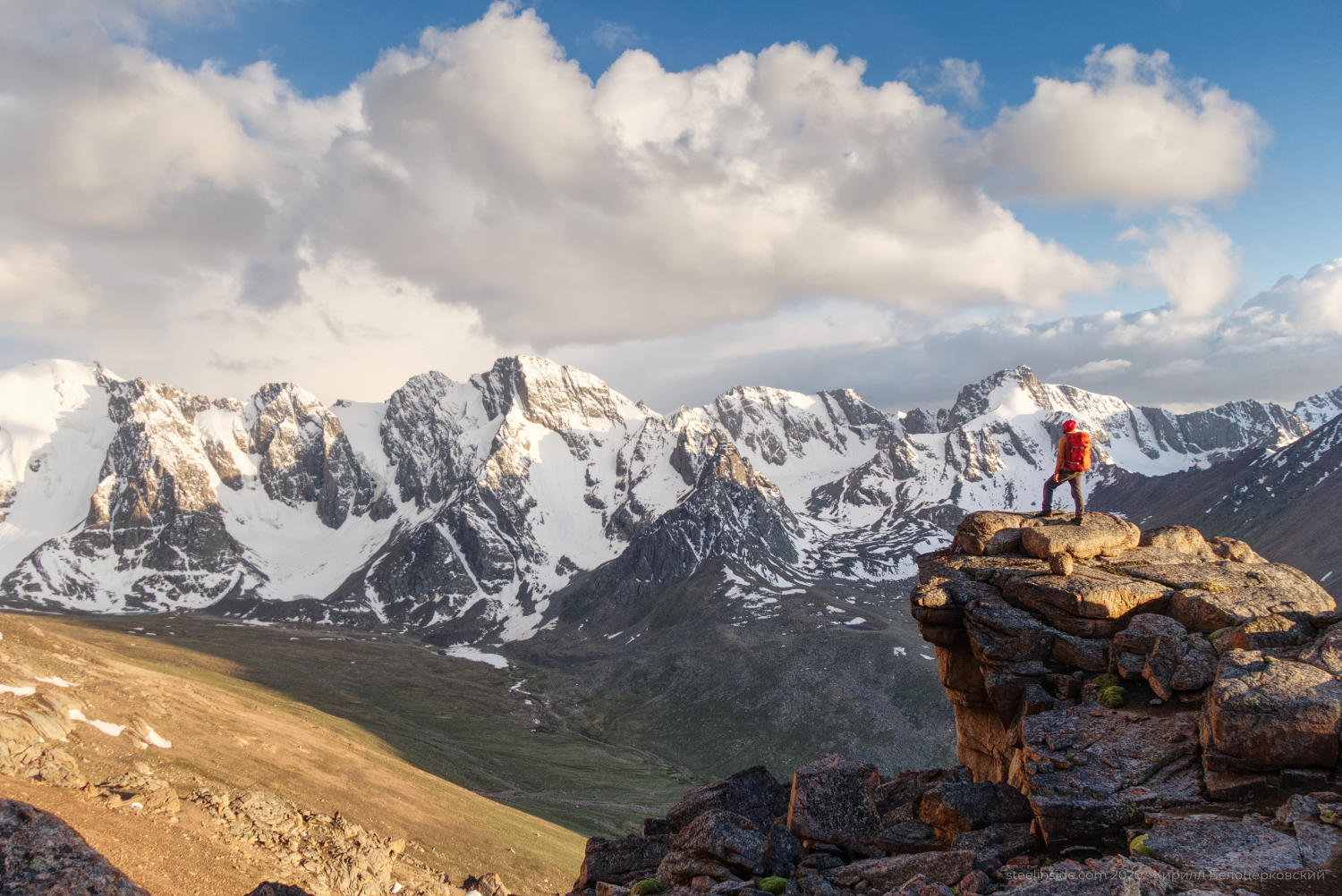 Kirill Belotserkovskiy staring at Kyrgyz range